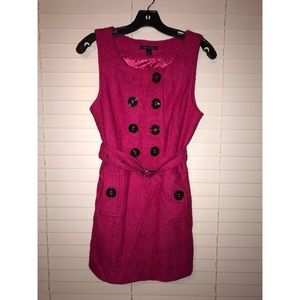 Double Breasted Tweed Mini Dress
